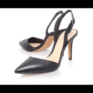 Vince Camuto Barlowe Shoes, Black Leather, Br New
